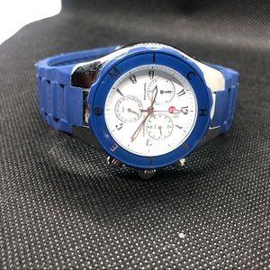 Royal blue Michele rubber watch